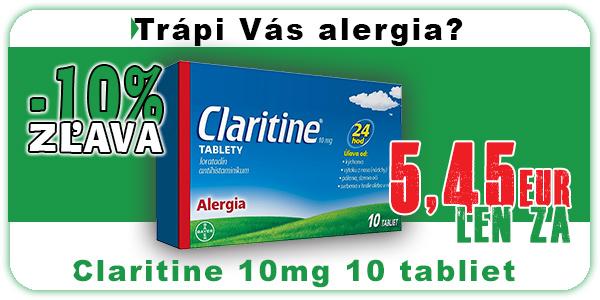 Akcia Claritine 10mg 10 tabliet