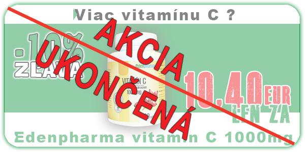 AKCIA EDENPHARMA VITAMIN C 1000MG 100 TABLIET