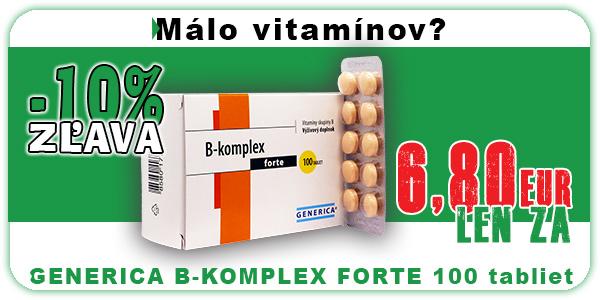 Akcia GENERICA B-KOMPLEX FORTE 100 tabliet